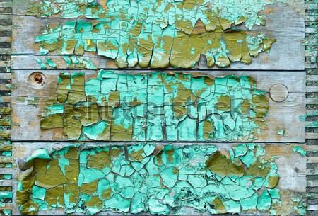 Eski yıpranmış kırık emaye ahşap yüzey Stok fotoğraf © pzaxe