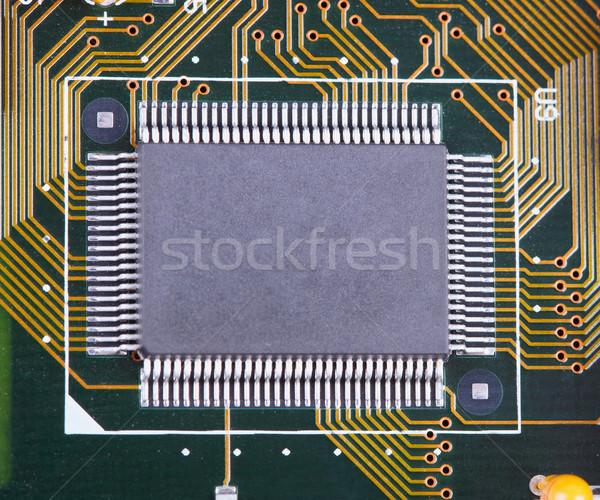 Groot geïntegreerd circuit board oppervlak server wetenschap Stockfoto © pzaxe