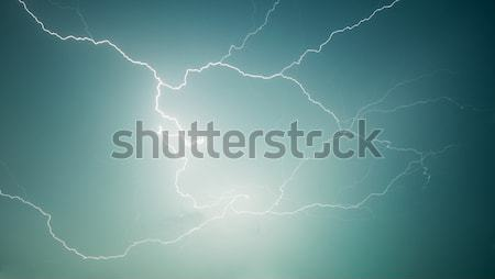 Nature photography - lightning - discharge in sky Stock photo © pzaxe