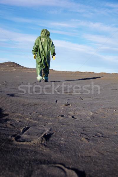 Scientific ecologist in overalls in desert Stock photo © pzaxe