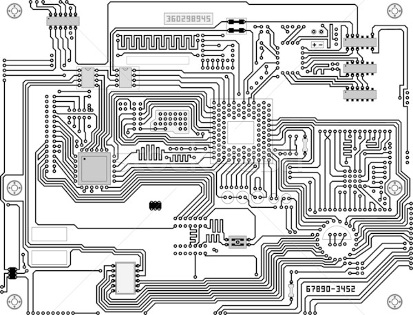 Technological industrial electronic circuit background Stock photo © pzaxe