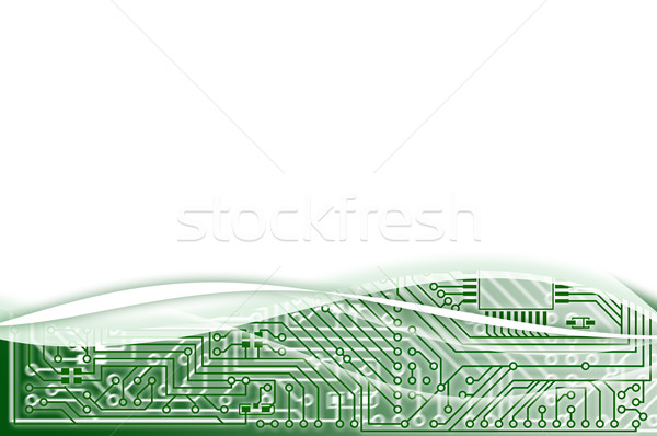 Electronic light green abstract background Stock photo © pzaxe