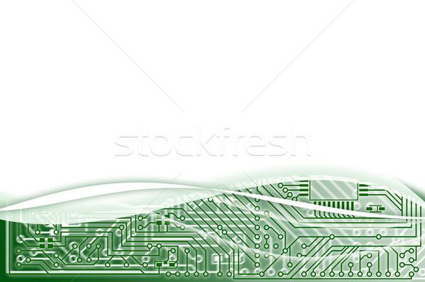 電子 薄緑 抽象的な 産業 背景 緑 ストックフォト © pzaxe