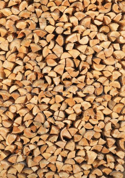 Nyírfa tűzifa függőleges boglya természetes fa Stock fotó © pzaxe