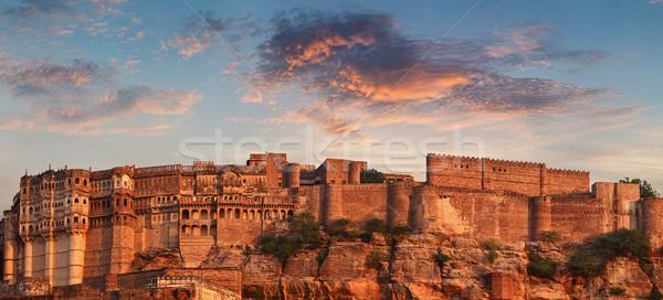 砦 インド 1 建設 太陽 ストックフォト © pzaxe
