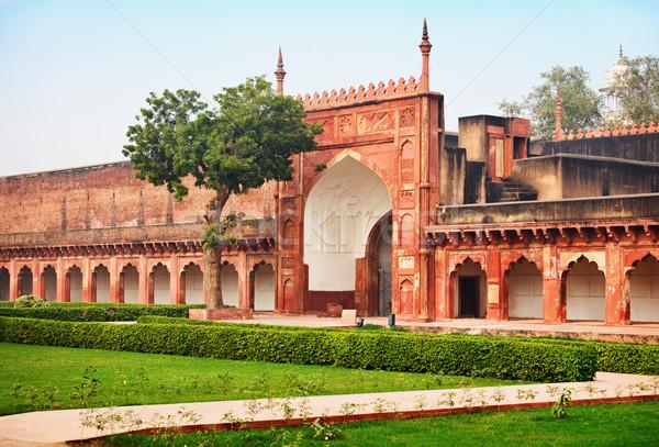 Cancello vecchio indian rosso fort cielo Foto d'archivio © pzaxe
