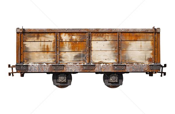 Vintage rusty car for the narrow-gauge railway Stock photo © pzaxe