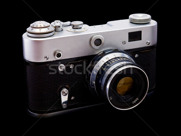 Oude camera vol maat donkere technologie Stockfoto © pzaxe