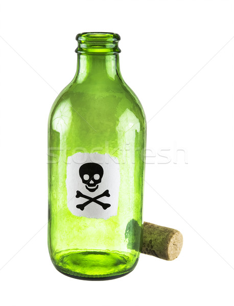 Poison bottle on a white Stock photo © pzaxe