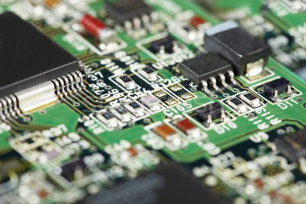 Superficie elettronica circuito componenti computer scienza Foto d'archivio © pzaxe