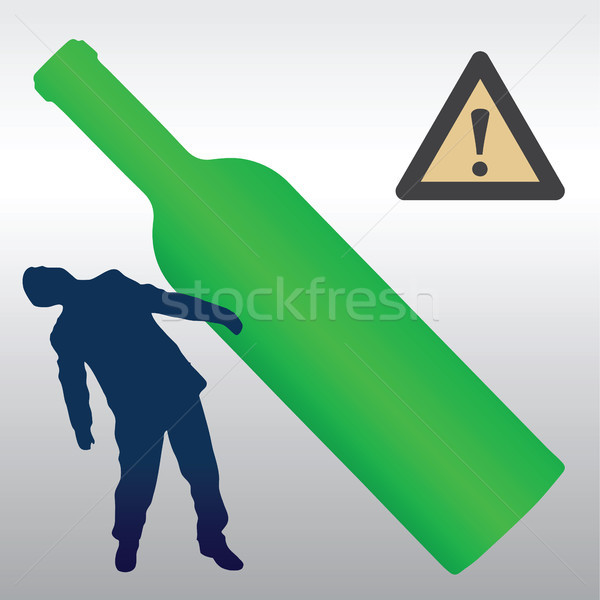 Alcohol detrimental effect Stock photo © pzaxe