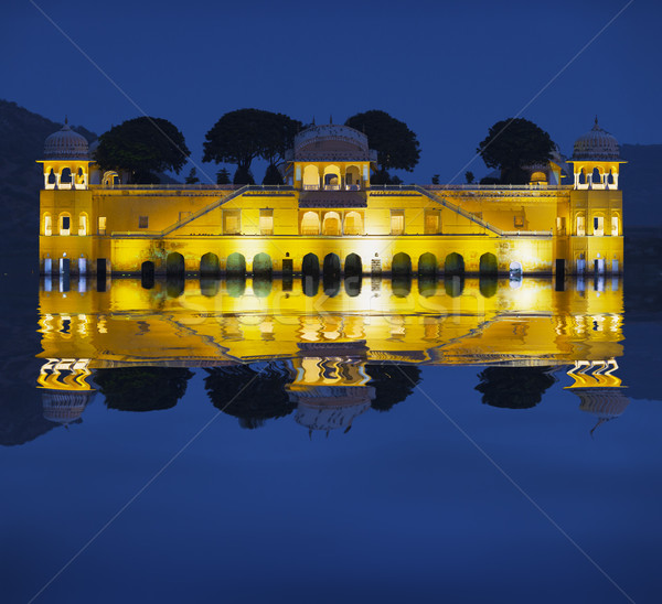 Water Palace at night - Jal Mahal Rajasthan, Jaipur, India Stock photo © pzaxe