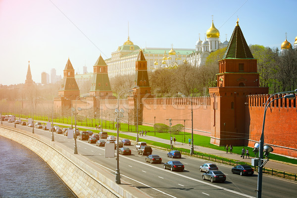 Beautiful, Onion-Domed Structures of the Kremlin in Moscow, Russ Stock photo © pzaxe