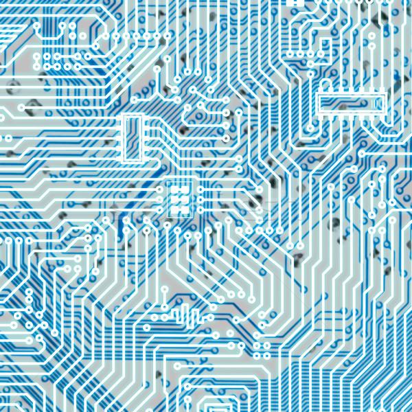 Circuit board light blue hi-tech texture Stock photo © pzaxe