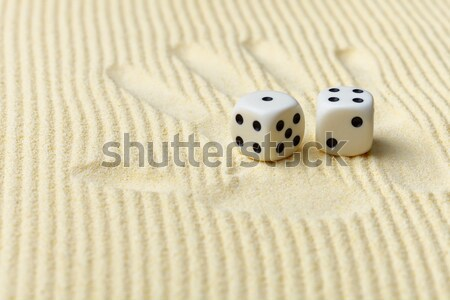 Print of a palm with dices lying on it Stock photo © pzaxe