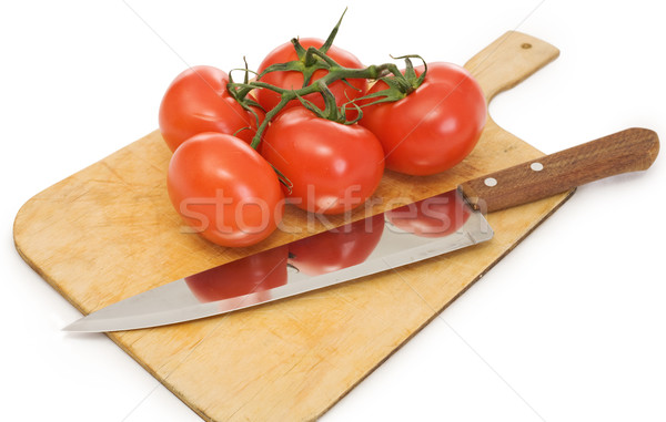 Knife and branch tomatoes Stock photo © pzaxe