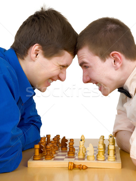 Mans to play chess Stock photo © pzaxe