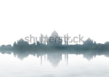 Panoramic view of the Taj Mahal. India Stock photo © pzaxe