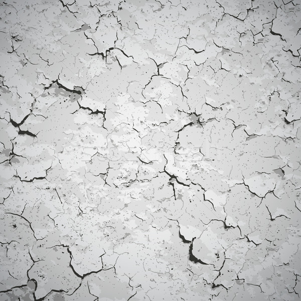 Vector background - wall covered with cracks Stock photo © pzaxe