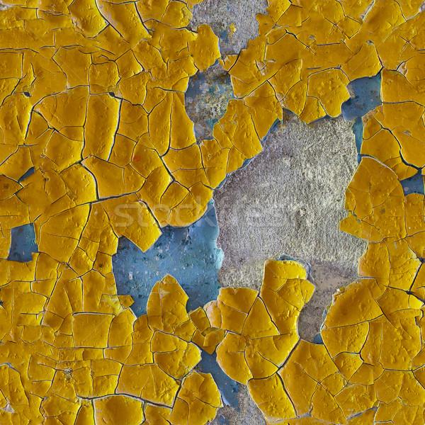 ひびの入った 古い エナメル 表面 壁 ストックフォト © pzaxe