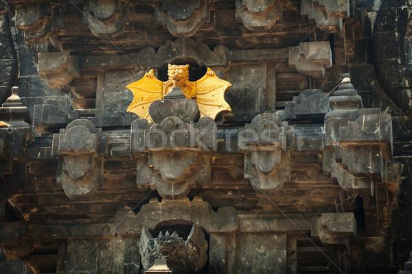 Intricate Facade of Goa Lawah Bat Cave Temple in Bali, Indonesia Stock photo © pzaxe