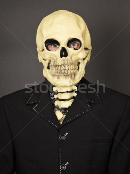 Portrait of man in mask of death Stock photo © pzaxe