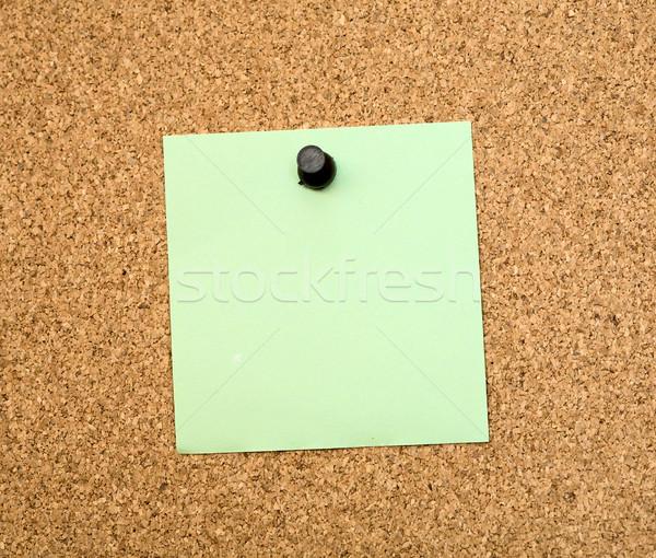 Adesivos placa de cortiça marrom papel fundo quadro de avisos Foto stock © pzaxe