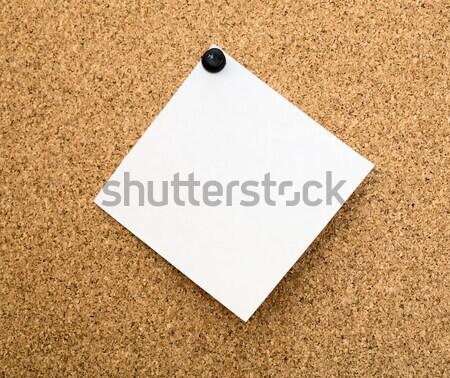 пробковая доска коричневый цвета белый Billboard Сток-фото © pzaxe