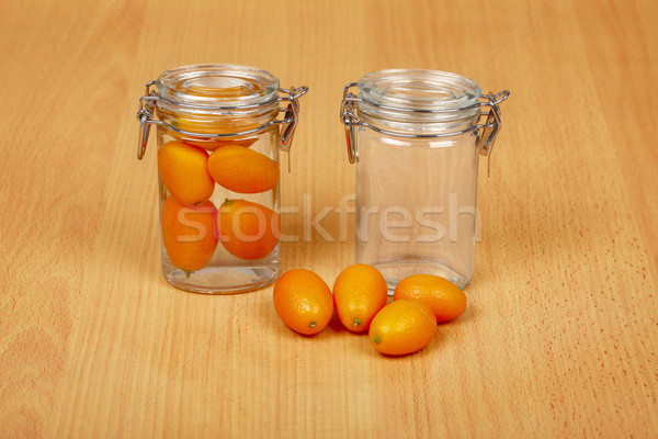 Production of exotic citrus fruits canned Stock photo © pzaxe