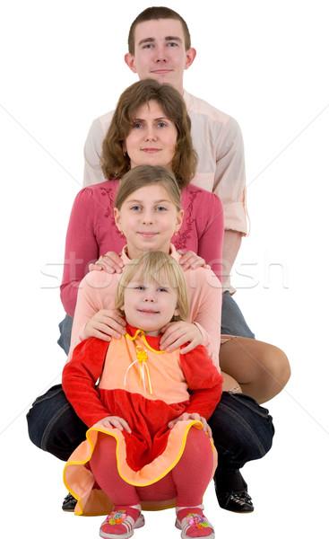 Aile çocuk beyaz çocuklar arka plan anne Stok fotoğraf © pzaxe