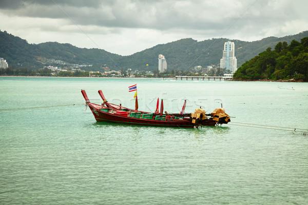 Thai longtail boats near Patong. Thailand Stock photo © pzaxe