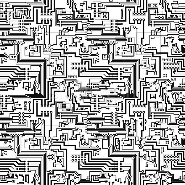 Circuit board vector seamless technological pattern vector ...