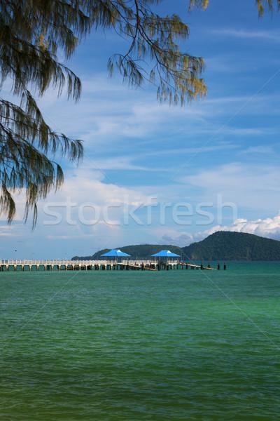 Modern iskele Tayland phuket uzun deniz Stok fotoğraf © pzaxe
