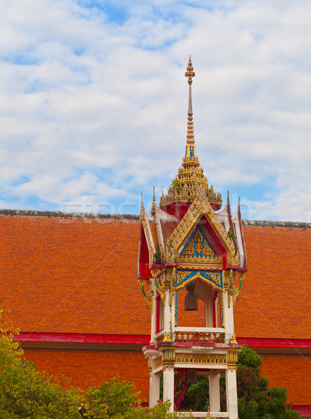 Stock photo: Beautiful bell tower on the territory of a Buddhist temple. Thai