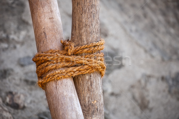 Traditional Round Lashing for Assembly of Simple Structures Stock photo © pzaxe