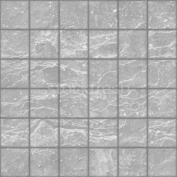 Seamless texture of grunge gray stone tiles wall with spots Stock photo © pzaxe