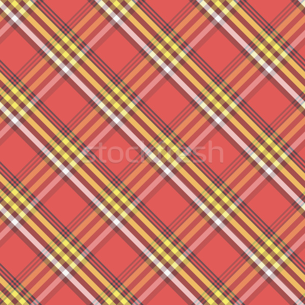 Seamless illustrated sample of Tartan or Massai Fabric. Vector E Stock photo © pzaxe