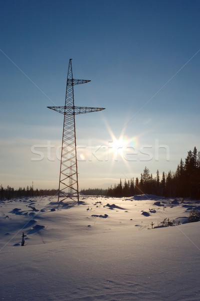 New high-voltage tower Stock photo © pzaxe