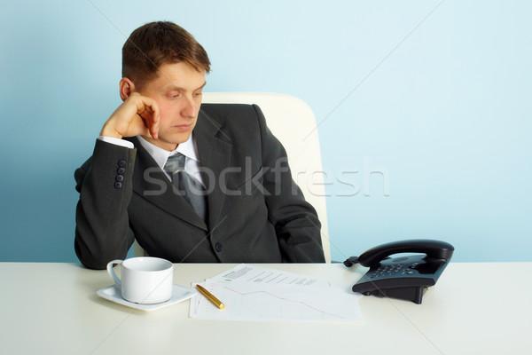 Uomo d'affari attesa uomo ufficio Foto d'archivio © pzaxe