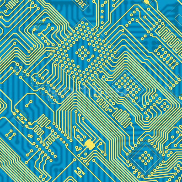 Imprimé bleu industrielle circuit texture graphique Photo stock © pzaxe