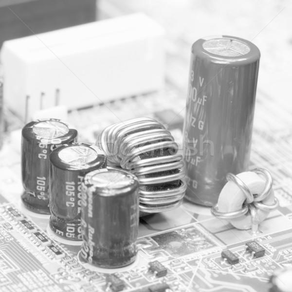 Elektronikus alkotóelem öreg monokróm közelkép technológia Stock fotó © pzaxe