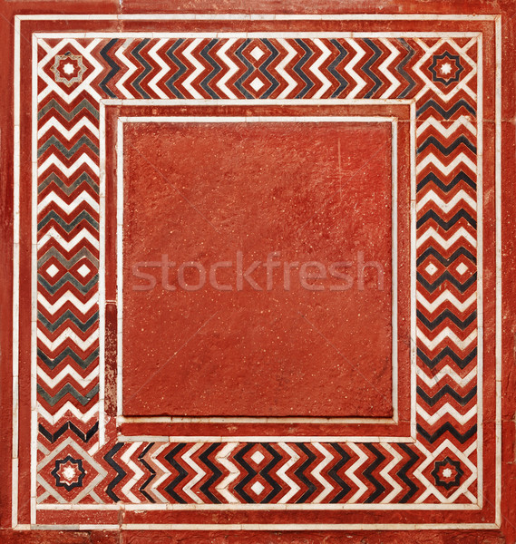 Frame in the Indian style from natural stone Stock photo © pzaxe