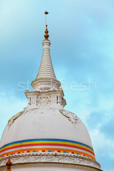Stupa (dagoba) - Kande Viharaya Temple. Bentota, Sri Lanka Stock photo © pzaxe