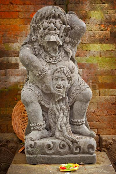 Bağbozumu heykel tanrı Endonezya bali ada Stok fotoğraf © pzaxe