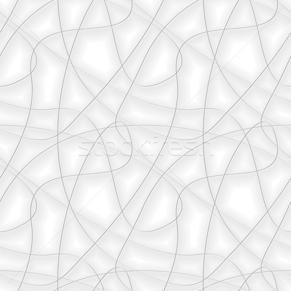 Abstract background with chaotic gray threads. Seamless vector p Stock photo © pzaxe