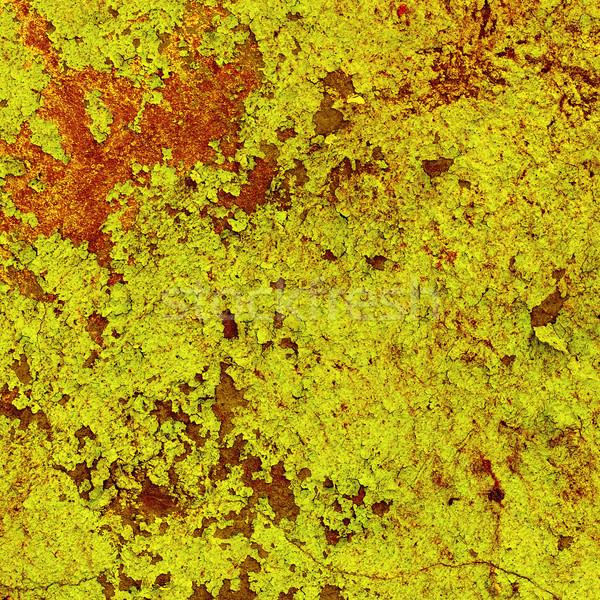 Tekstury starych uszkodzony żółty farby placu Zdjęcia stock © pzaxe