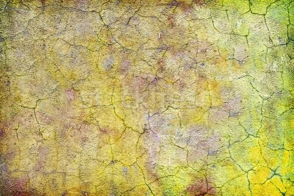 старые грязные конкретные стены трещин покрытый Сток-фото © pzaxe