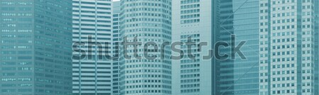 Panoramic background - windows of high-rise city buildings Stock photo © pzaxe