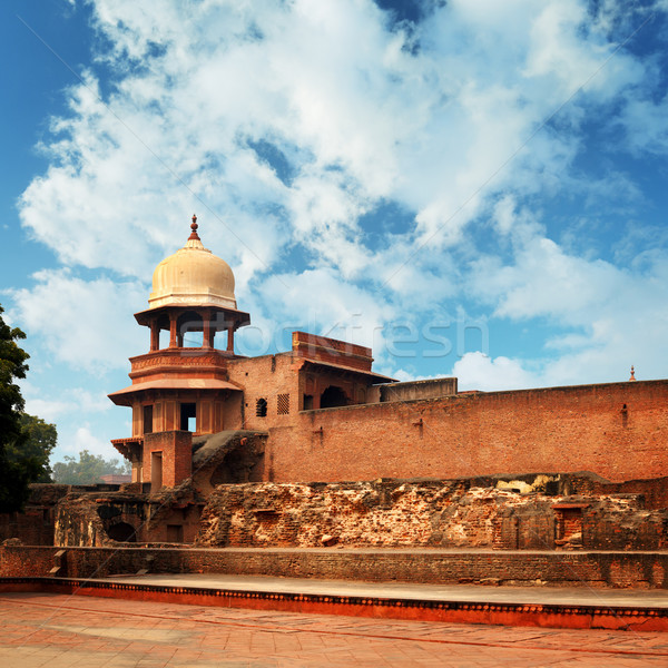 Ruines oude fort Indië hemel stad Stockfoto © pzaxe