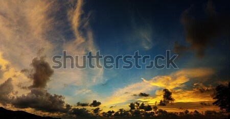 Picturesque beautiful view of sky at sunset over tropical sea Stock photo © pzaxe
